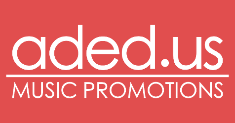ADED.US Music Promotions logo for FaceBook 476x249px