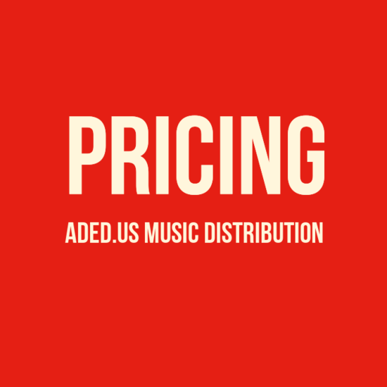 Pricing for ADED.US Music Distribution